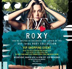 675801c39c Haute on the Spot  Events  Diane von Furstenburg x Roxy Swimwear Launch  Party Tonight
