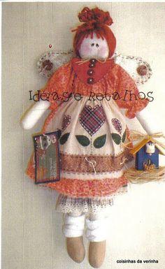 2 of 2 angel Felt Games, Christmas Crafts, Christmas Ornaments, Doll Quilt, Fabric Dolls, Rag Dolls, Soft Dolls, Doll Patterns, Doll Toys
