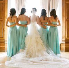 Bride and bridesmaid picture idea