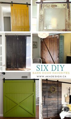 I really want to do this in my family room: 6 DIY Barn Door Favorites - http://akadesign.ca/6-diy-barn-door-favorites/