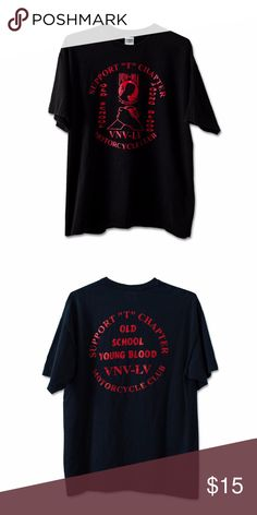 Old School Young Blood T-Shirt Condition: 7/10 Shirts Tees - Short Sleeve