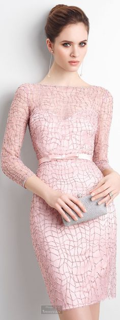 @roressclothes clothing ideas #women fashion pink blush dress, purse Aire Barcelona.2015.
