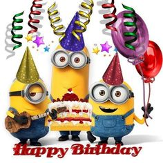 Take a look at the best Minion birthday quotes in the photos below and get ideas for your own birthday wishes! Happy Birthday Status, Happy Birthday My Friend, Funny Happy Birthday Images, Birthday Wishes Funny, Singing Happy Birthday, Happy Birthday Messages, Happy Birthday Greetings, Humor Birthday, Happy Birthday Child