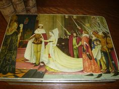 Vintage Huntley & Palmers Rectangular Tin With by TeacupsNMore, $75.00