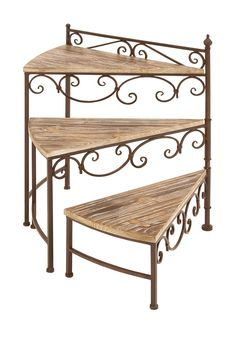 Metal & Wood Plant Stand by UMA on @HauteLook
