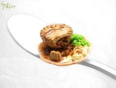 Meat Pie Miniature Mushy Peas & Mashed Potatoes by HugsKissesMINI