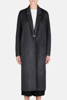 Acne Studios — Foin Double Coat   Dark Grey — THE LINE
