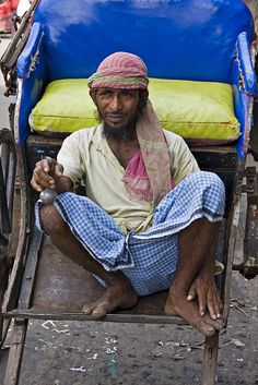 Calcutta Rickshaw Man