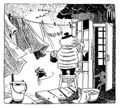 Tove Jansson, Moomins creator-it is believed based the boisterous character Too-ticky on her life partner, artist Tuulikki Pietilä Book Illustration, Illustrations, Moomin Valley, Tove Jansson, A Comics, Totoro, Female Art, Photo Art, Fairy Tales