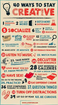 40 Ways to Stay #Creative for Designers