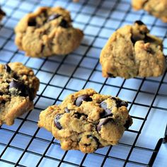 {Skinny} Pumpkin Chocolate Chip Cookies, made with coconut oil, no eggs, and white whole wheat flour. These babies are super moist.