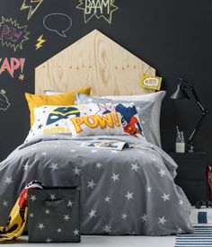 Product Detail | H&M US-  Gray Star Duvet Cover set- $24.95