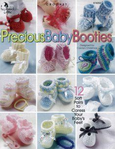 Precious Baby Booties [AA874050] - $5.99 : Maggie Weldon, Free Crochet Patterns