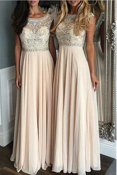 Hot Sales Chiffon Back V Long Prom Dresses Evening Gowns Graduation Dress LD247