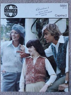 d71f6ed5703 Vintage retro knitting pattern Sirdar 4884 chunky waistcoats for all the  family  Sirdar