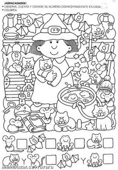 This page has a lot of free Halloween worksheets for kids,parents and preschool teachers. Halloween Worksheets, Worksheets For Kids, Doll Dress Patterns, Doily Patterns, Clothes Patterns, 3 Year Old Boy, Free To Use Images, Hidden Pictures, Kindergarten Activities