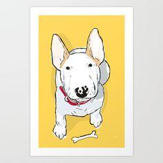 bull terrier Art Print by bbay - $12.48