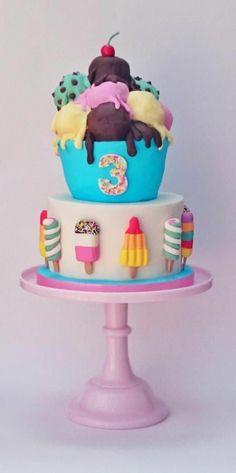 geburtstagstorte kinder torte dekorieren eis