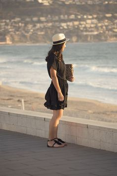 favorite little black dress and fringe sandals for summer