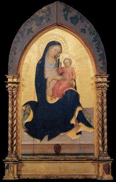 LORENZO Monaco Madonna of Humility 1420-22 Tempera on panel, 116 x 64 cm Brooklyn Museum, New York