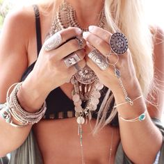 boho, feathers & gypsy spirit if it wasn't because i fidget and cant sit still play with my rings/bracelets, take them on and off, i would be rocking this.