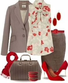 80 Elegant Work Outfit Ideas in 2017 - Are you looking for catchy and elegant work outfits? We all know that there are several factors which control us when we decide to choose something to. Office Fashion, Work Fashion, Fashion Looks, Mode Outfits, Fashion Outfits, Womens Fashion, Fashion Trends, Fashion 2018, Fashion Clothes