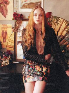 Sophie Turner, by Kristin Vicari for Nylon Magazine, September 2012.