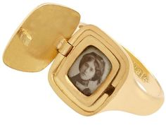 An impressive 18 carat yellow gold signet ring, ornamented with a hidden enamel compartment; part of our diverse antique jewellery and estate jewelry collections SKU: A7069 Price: GBP £1,755.00