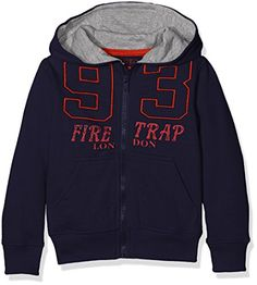 Firetrap Boys Zip Through 93 Hoodie, Blue (Patriot Blue), 3-4 Years Infant Boys Firetrap 93 Zip Hoody in Navy-Zip fastening-Pockets to sides-Ribbed cuffs and hem-Large 93 logo detail to front-Hooded-Branding to front-60% Cotton, 40% Polye (Barcode EAN = 5054064189534) http://www.comparestoreprices.co.uk/december-2016-4/firetrap-boys-zip-through-93-hoodie-blue-patriot-blue--3-4-years.asp