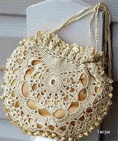 Receitas de Crochet: Bolsa de festa