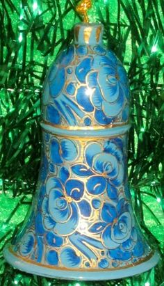 Decorative Hanging Ornament Bell 100 Handmade and Hand painted Paper Mache product from the Artisans of KashmirIndia Size 10 cm *** Read more  at the image link.
