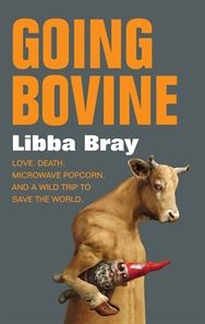 Going Bovine by Libba Bray. Cameron has just had some bad news: he's sick and is going to die. Which totally sucks. But then hope arrives in the form of Dulcie, a loopy punk angel with a bad sugar habit who promises Cam there is a cure if he's willing to go in search of it. Cameron embarks on the mother of all road trips through a twisted America to find out how to live and what matters most.