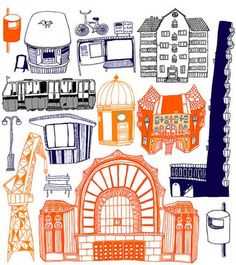 Helsinki - juliste / LILLE-LLE – Re:fashion - Hyväntekeväisyysverkkokauppa (Holvi) Helsinki, All Print, Refashion, Printed Shirts, Print Design, Comics, Illustration, Prints, Inspiration