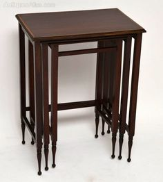 Edwardian Small Inlaid Mahogany Nest Of Tables - Antiques Atlas