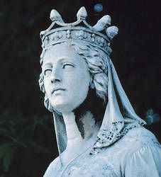 Notable Women of Medieval Europe. This is a statue of a noble women of medieval europe. I dont know where this is located or who built it but i think it is beautiful because it tells a lot about the role of women in europe at this time.