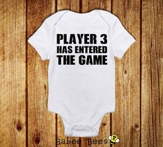 Player 3 Has Entered the Game, Gamer Baby, Video Game Baby Clothes, Nerd Baby Shower, Funny Baby Clothes, Baby Boy, Gender Neutral, Custom #babyclothes