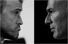 Barcelona Luis Enrique vs Real Madrid Zinedine Zidane Zinedine Zidane, Real Madrid, Barcelona, The League, Barcelona Spain
