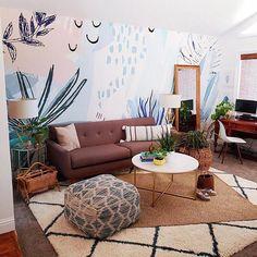 Wonderful Pastel Art removable wallpaper design and perfect home decor creation Pastel Decor, Pastel Art, Living Room Decor, Bedroom Decor, Wall Decor, Shabby Chic Decor, Bohemian Decor, Deco Surf, Beach Cottage Style