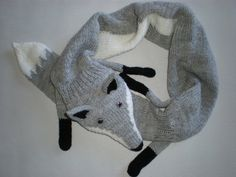 Hey, I found this really awesome Etsy listing at https://www.etsy.com/listing/122760736/hand-knitted-light-grey-fox-scarf