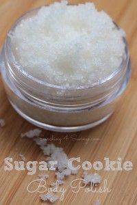 DIY Homemade Gift Idea: Sugar Cookie Body Polish. Chances are you already have everything needed to make this yummy body scrub!