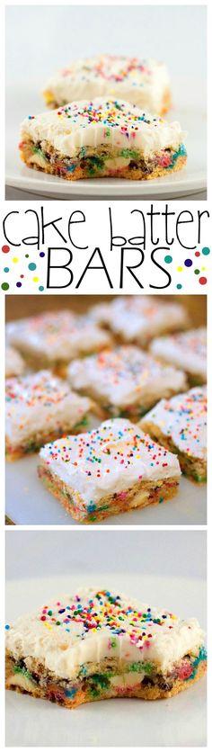 Cake Batter Bars - Baking Beauty