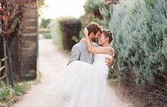 Love the bride's braided hair!