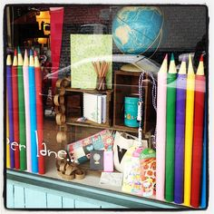 Final pieces to our Back To School window went in this morning @littlepaperlane