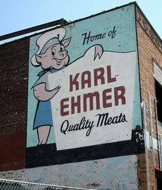 The old Karl Ehmer sign on Fresh Pond