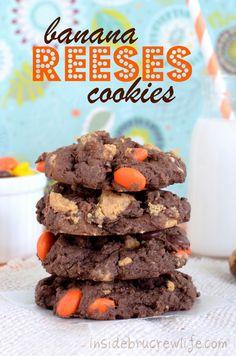 Banana Reeses Cookies