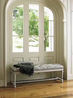 Window Seating Area With Leather Bench From Lexington Furnitureu0027s Oyster  Bay Collection. #LHBDesign Bed