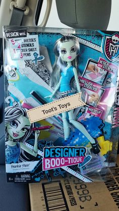 Monster High Designer Booo-tique Frankie Stein Doll & Fashions: Frankie…