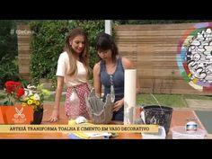 É de Casa: Eu ensino a fazer Vasos com Toalha e Cimento, em 24/02/2018 - YouTube Rc Hobbies, How To Make Money, Mandala, Play, Make It Yourself, Youtube, Canning, Cement Crafts, Easy Kids Crafts