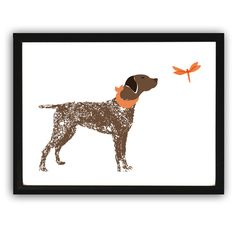 German Shorthaired Pointer Dog  DESCRIPTION: Intelligent, bold and characteristically affectionate dog whose another name is German Short haired Pointer.  All the prints are printed using archival pigment inks on a luxurious heavy weight fine art paper with a matte finish. These prints are signed, dated and numbered (when applicable) by me (either on the front or back of the print).   This item ships in 7 business days via Royal Mail.  http://ialbert.etsy.com :Checkout the nursery ...