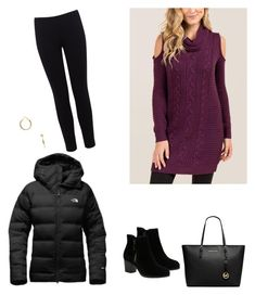 """""""Mardi Gras Parade"""" by laosuvff on Polyvore featuring The North Face, Skechers, Michael Kors, Kenneth Jay Lane, Francesca's and Warehouse"""